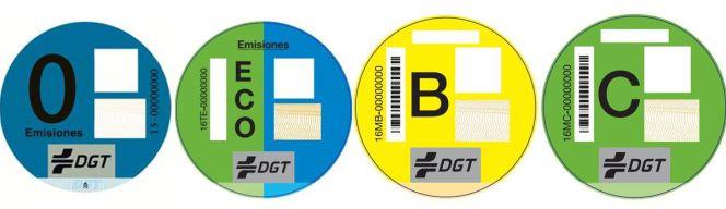 Pegatinas medioambiental DGT
